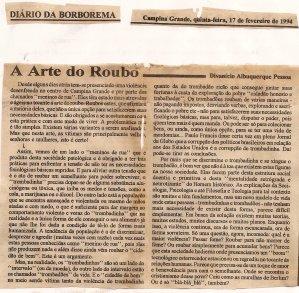 A Arte do Roubo -17/02/94